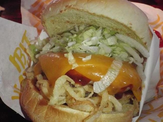 Whiskey River BBQ Chicken Burger