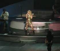 Taylor Swift singning her opening song Im Only Me When Im With You at Van Andel Arena