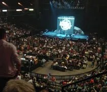 The view from our seats at Van Andel Arena