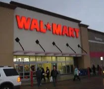 The Walmart store...which is NOT a Supercenter...in Lansing Township