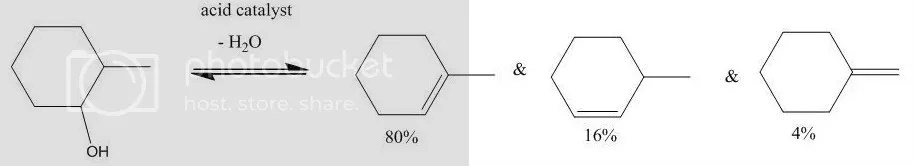 dehydration of methylcyclohexanol The mechanism of gas-phase dehydration of cyclohexanol and the methylcyclohexanols catalysed by zirconium phosphate and zirconium phosphite.