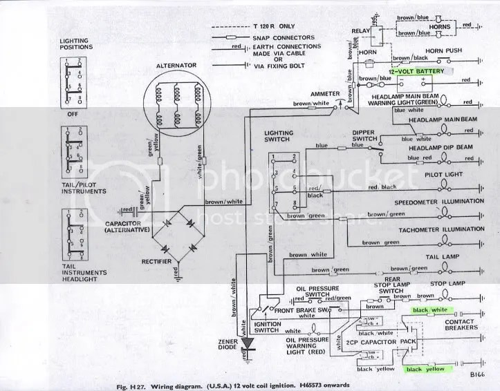 1973 triumph bonneville wiring diagram   38 wiring diagram