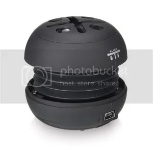 GADGETREE PORTABLE MINI SPEAKER - BLACK