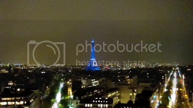 Nightscape from Arc de Triomphe