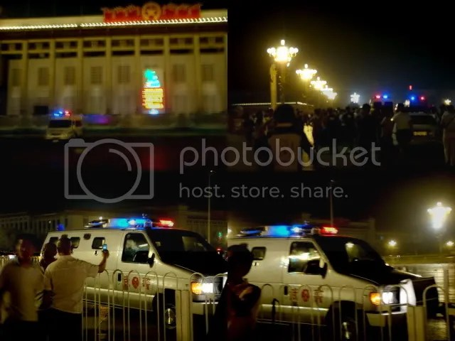 Police at Heavenly Peace Gate and the Square