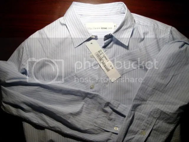 Izzue Light Blue Patch Stripe Shirt