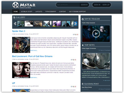 JV Mstar Joomla Movie Template