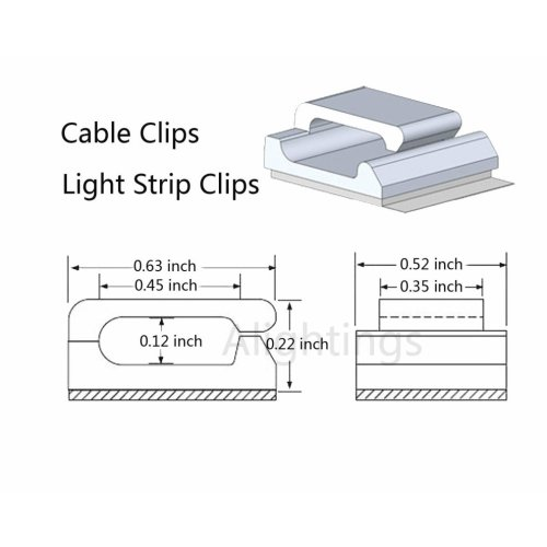 small resolution of  ethernet cable clips with self adhesive tidy and management extension cord 10mm led strips