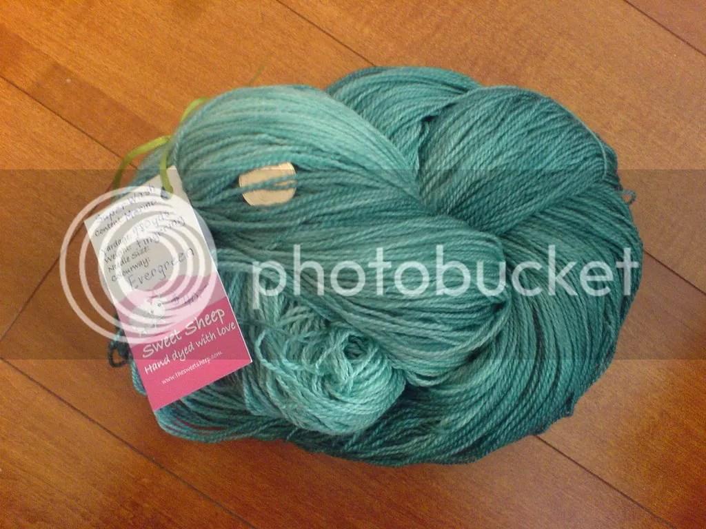sweet sheep superwash merino evergreen