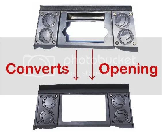 Double Din Radio Stereo Navigation Bezel Dash Kit Fits