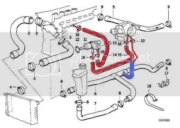 Size of bypass valve for Throttle Body coolant bypass?