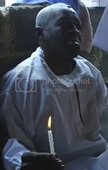 The newly-illumined servant of God Nicholas Sibiya on the day of his baptism 2 March 2008