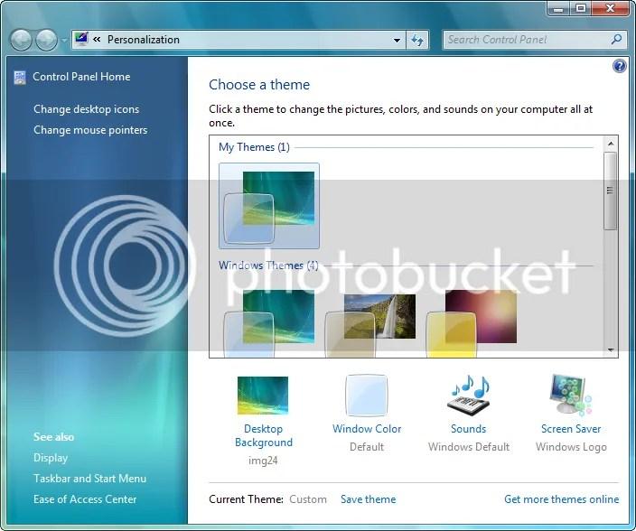 Personalizando o Desktop no Win7
