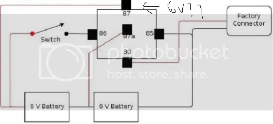 need wiring diagram with a boost button to go from 6v to