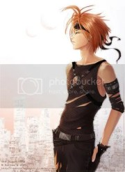 orange hair anime guy