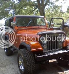 jeep cj7 orange [ 1024 x 768 Pixel ]