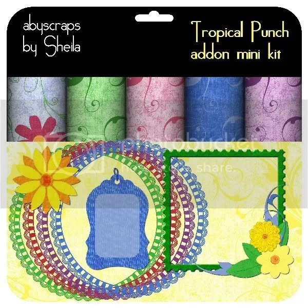 abyscraps Tropical Punch add-on mini kit