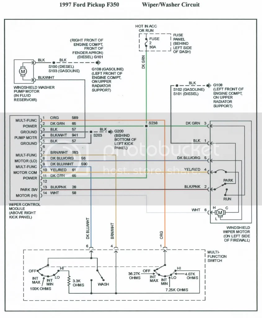 medium resolution of 97 ford expedition wiper wiring diagram