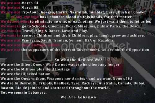 We Are Lebanon - The Silenced Ones