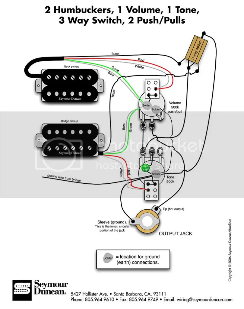 How do I wire an HH guitar with 3-way switch?