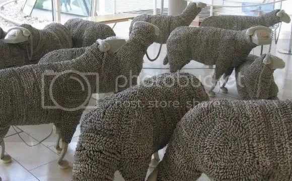 Telephone Sheep by Jean Luc Cornec