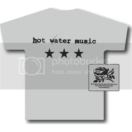hot water music shirts for a cure shirt
