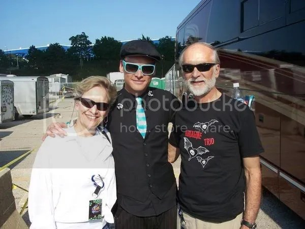 Matt Skiba with his parents