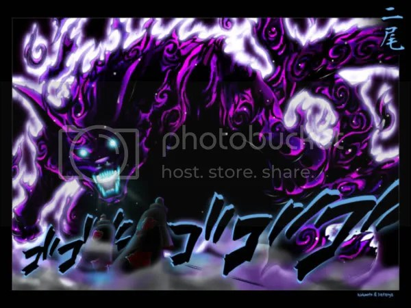 purple demon flames