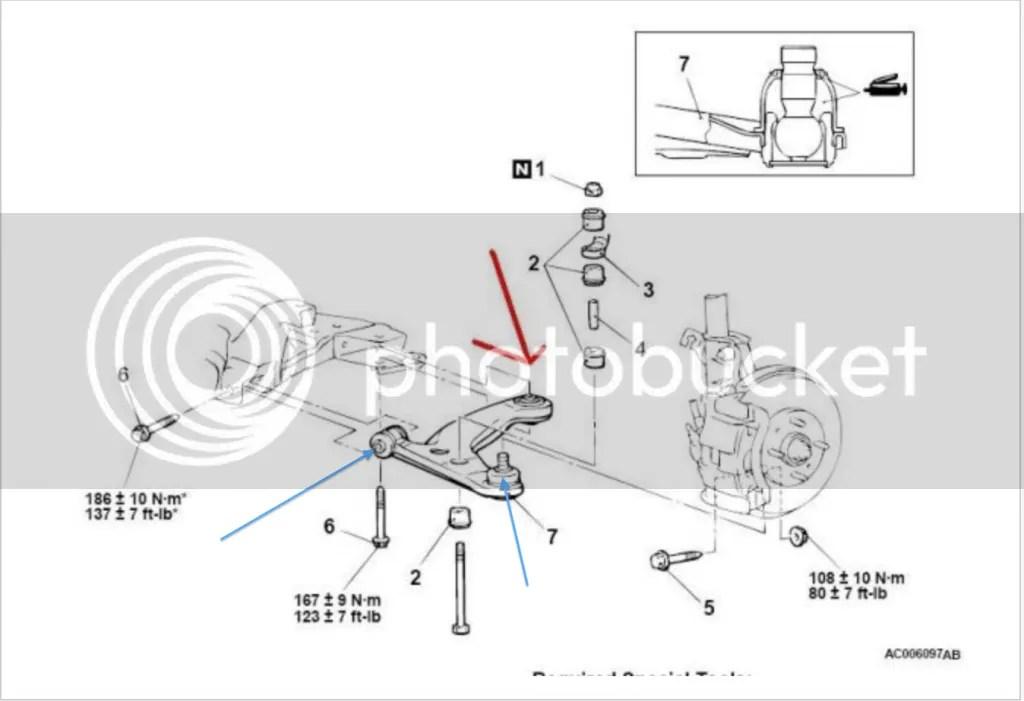 2009 Mitsubishi Lancer Front Suspension Diagram
