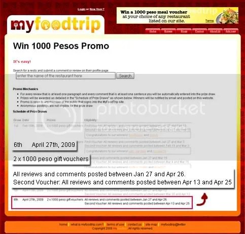 food trip meal voucher contest
