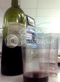 cabernet sauvignon in a cup