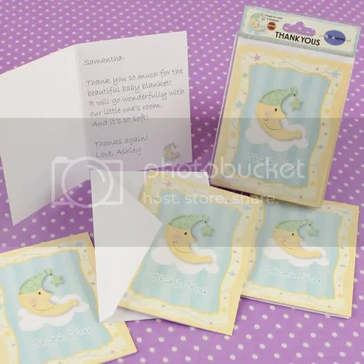 Moon and Star Thank You Cards