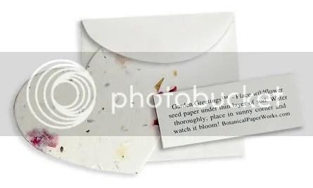 Plantable Heart with Glassine Envelope