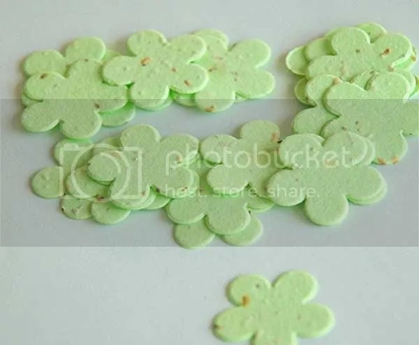 1 five petal plantable confetti, 300+ per bag