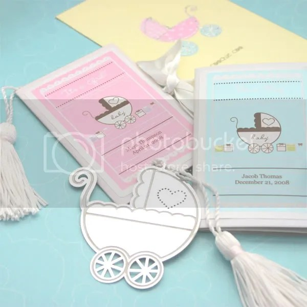 Marked With Love Baby Carriage Bookmark Baby Shower Faovr/Birth Annoucement