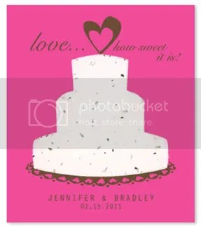 Sweet Love Personalizd Plantable Favors