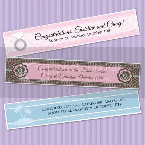 PERSONALIZED BANNER for Wedding or Bridal Shower 1x5