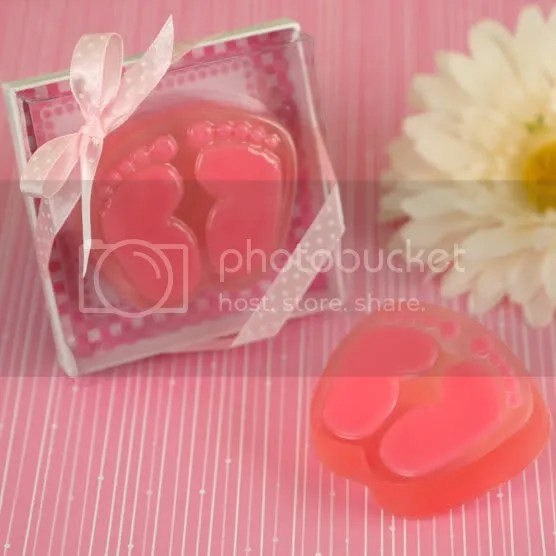 Pink Baby Feet Scented Soap Favor for Baby Shower or Baptism