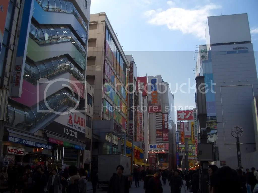 The view when you leave Akihabara station from the Electronics Town exit.
