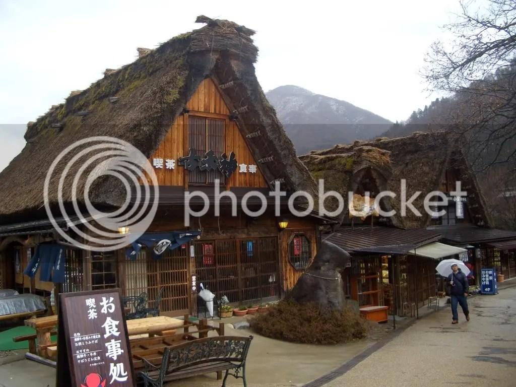Even the restaurants and souvenir shops are gassho zukuri style buildings