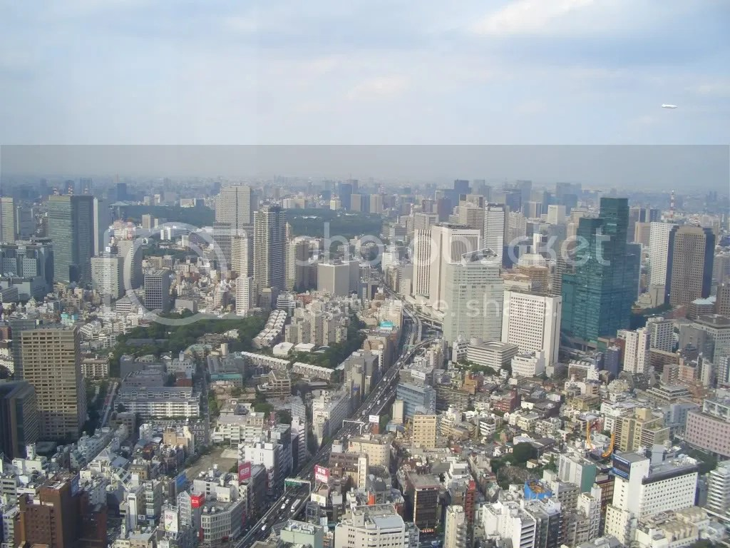 Tokyo as seen from the observation deck looking south