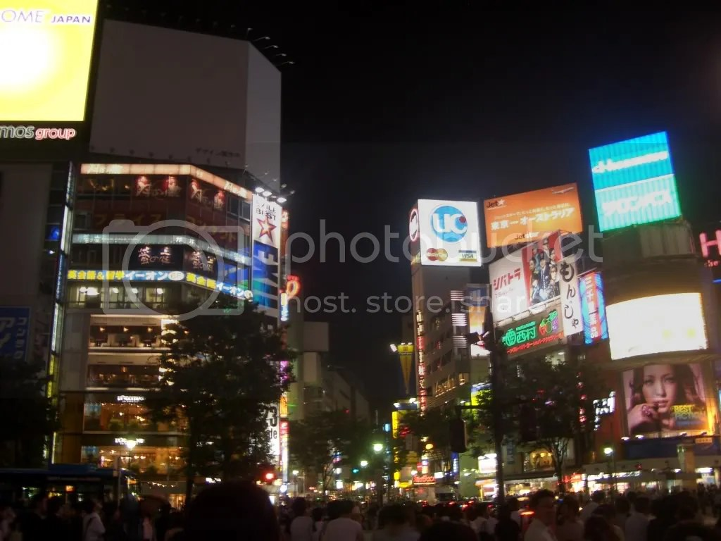 Busy Shibuya Crossing