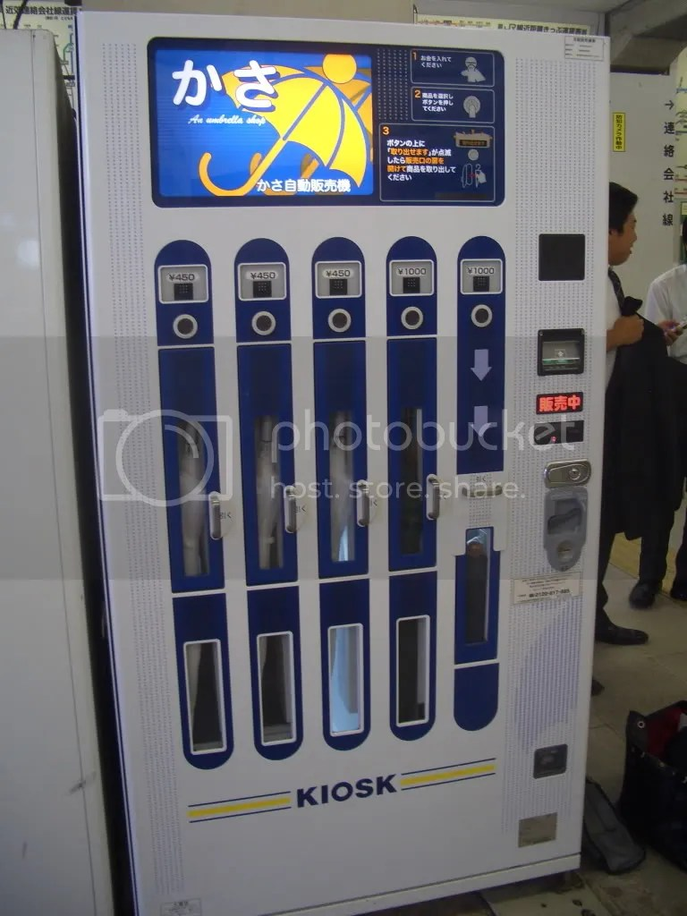 Umbrella vending machine