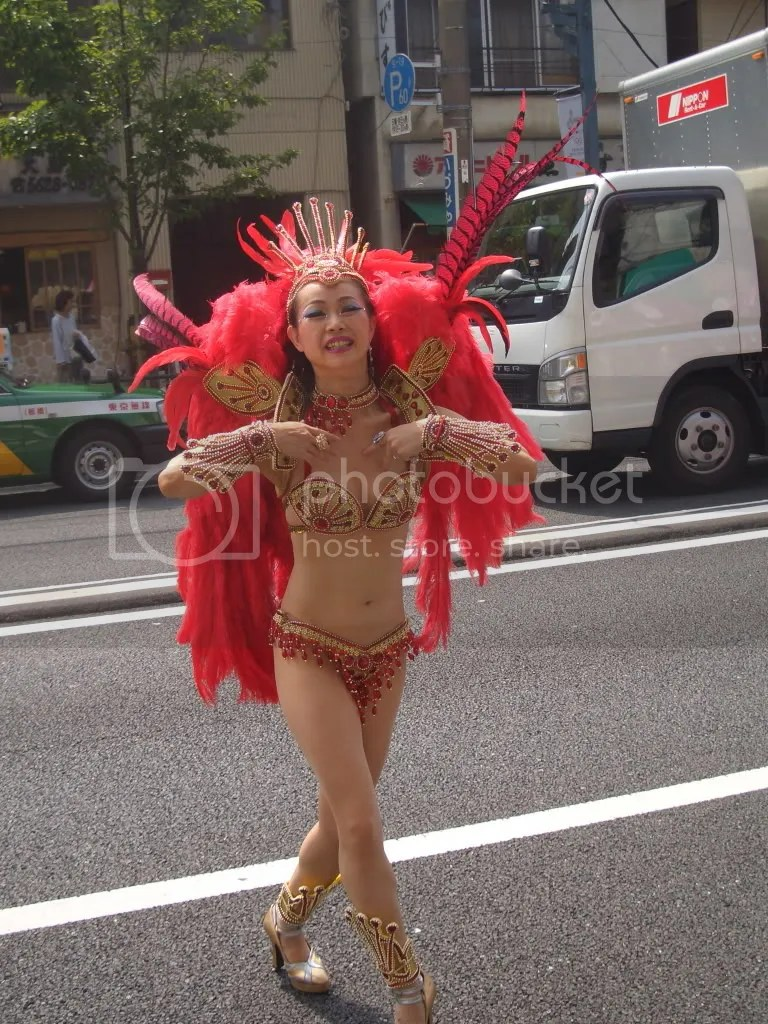 This outfit is more what I expect at a samba festival