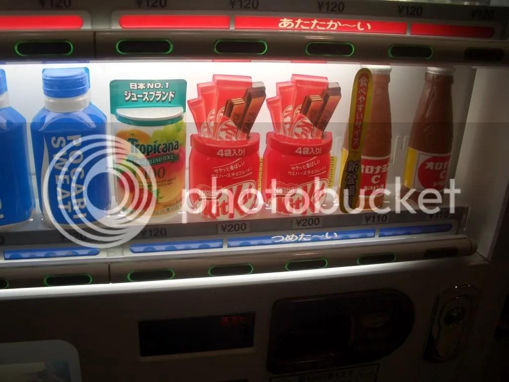 The Kit Kats in the vending machine