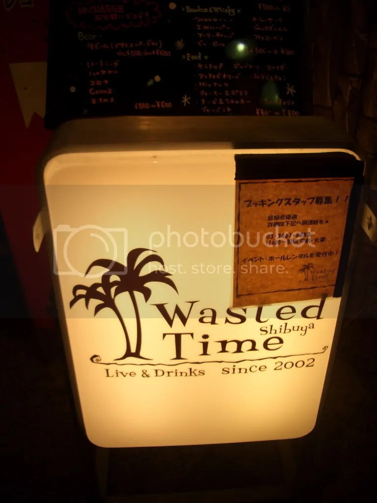 Wasted Time bar in Shibuya