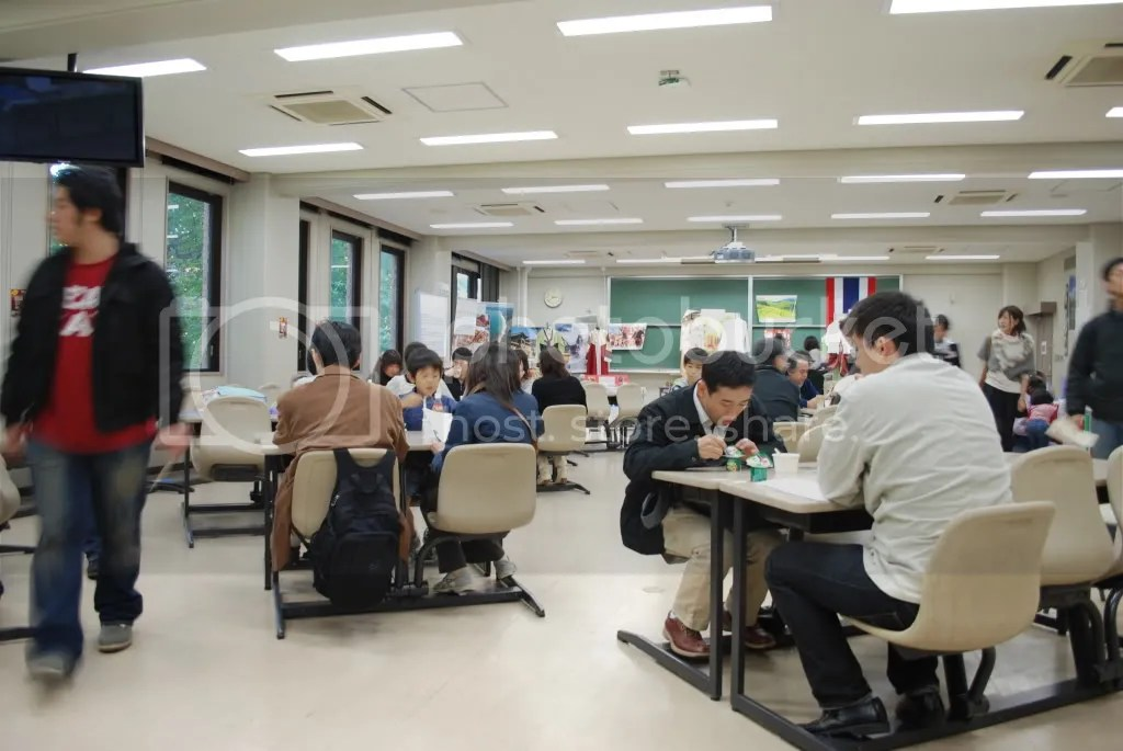 The Airport Cafe set up by the club of students whove studied abroad