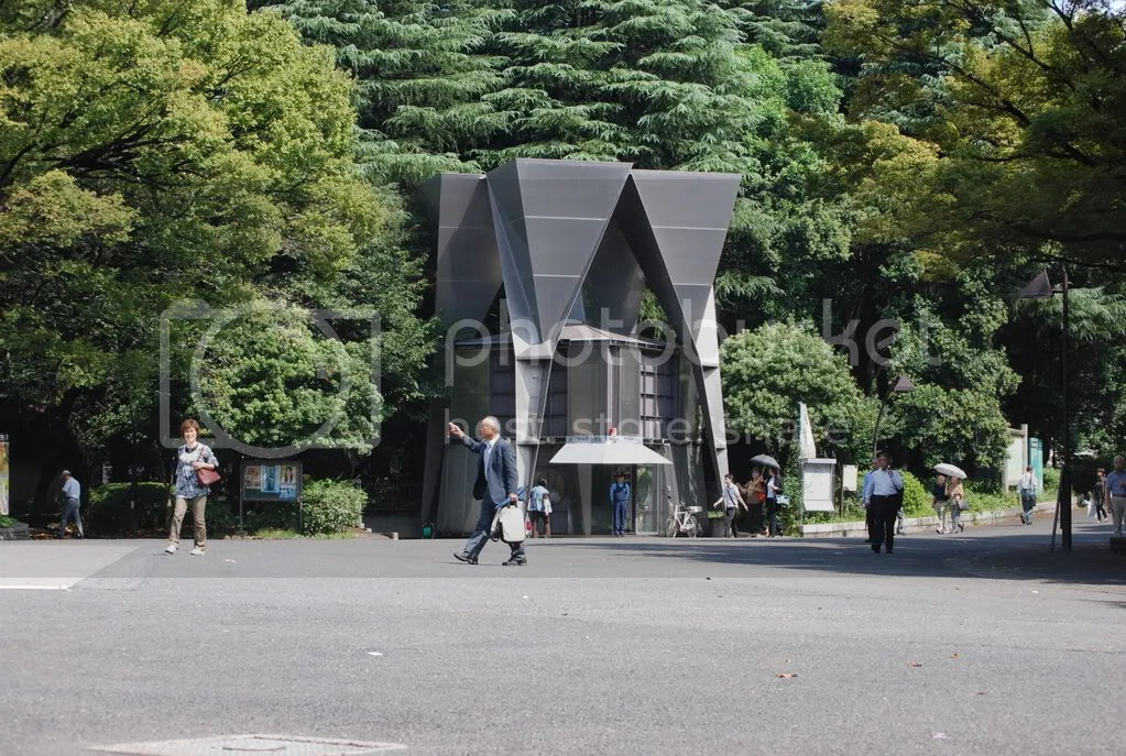 The Police Box at Ueno park. Police boxes are all over the city, there to watch over every little neighborhood.