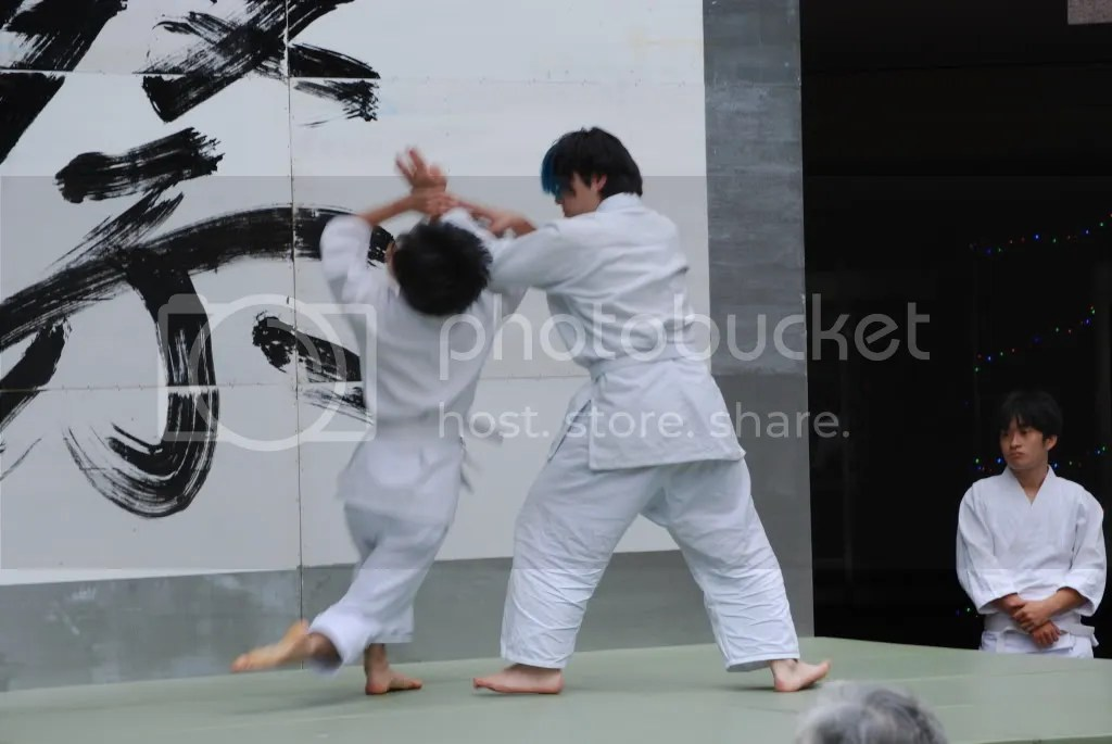 Aikido club exhibition - that looks painful