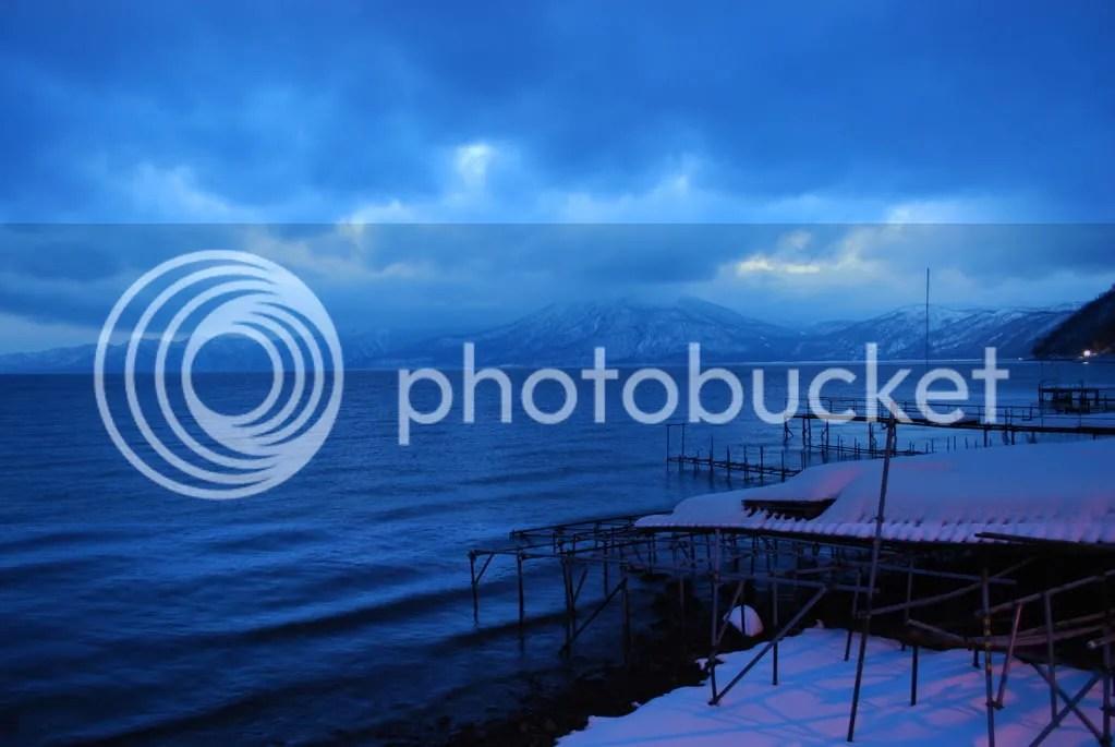 Dusk at Lake Shikotsu